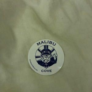 """brandy meville """"malibu cove"""" sticker"""